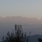 Sunrise view of the Himalayas